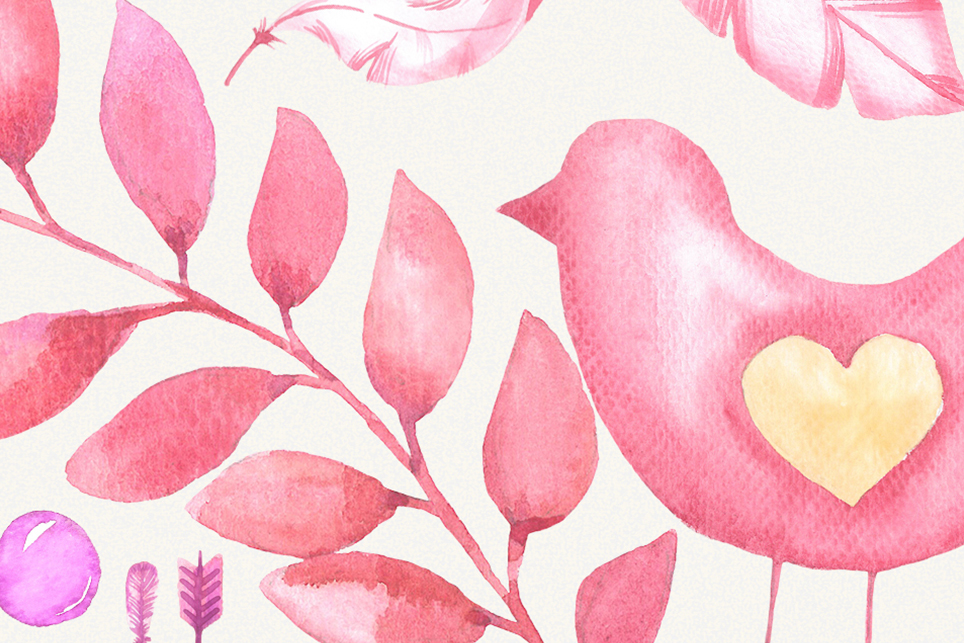Love clipart, heart clipart, watercolor heart clipart example image 4