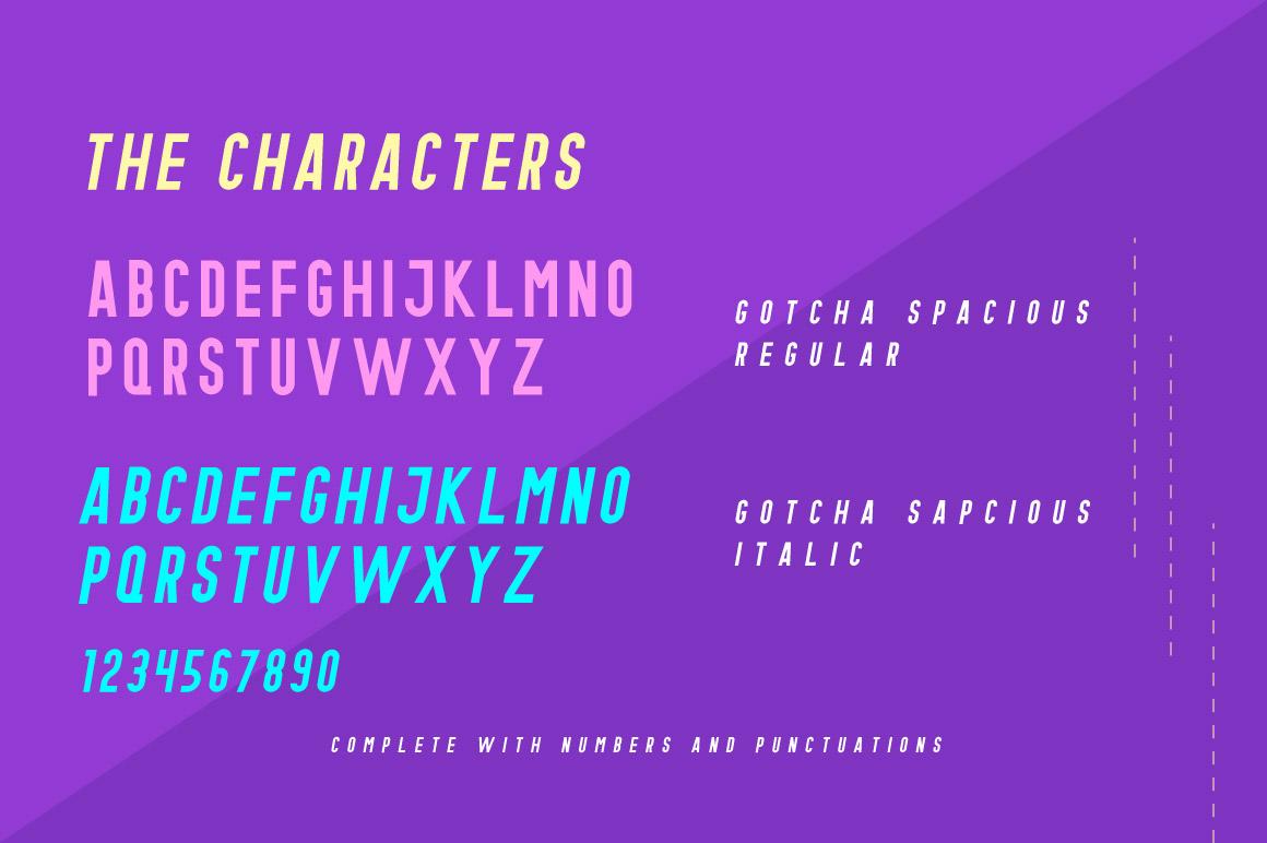 Gotcha Typeface example image 2