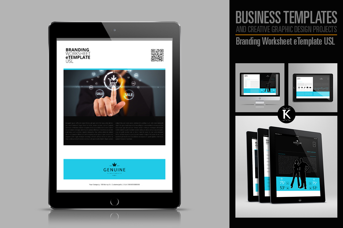 Branding Worksheet eTemplate USL example image 1