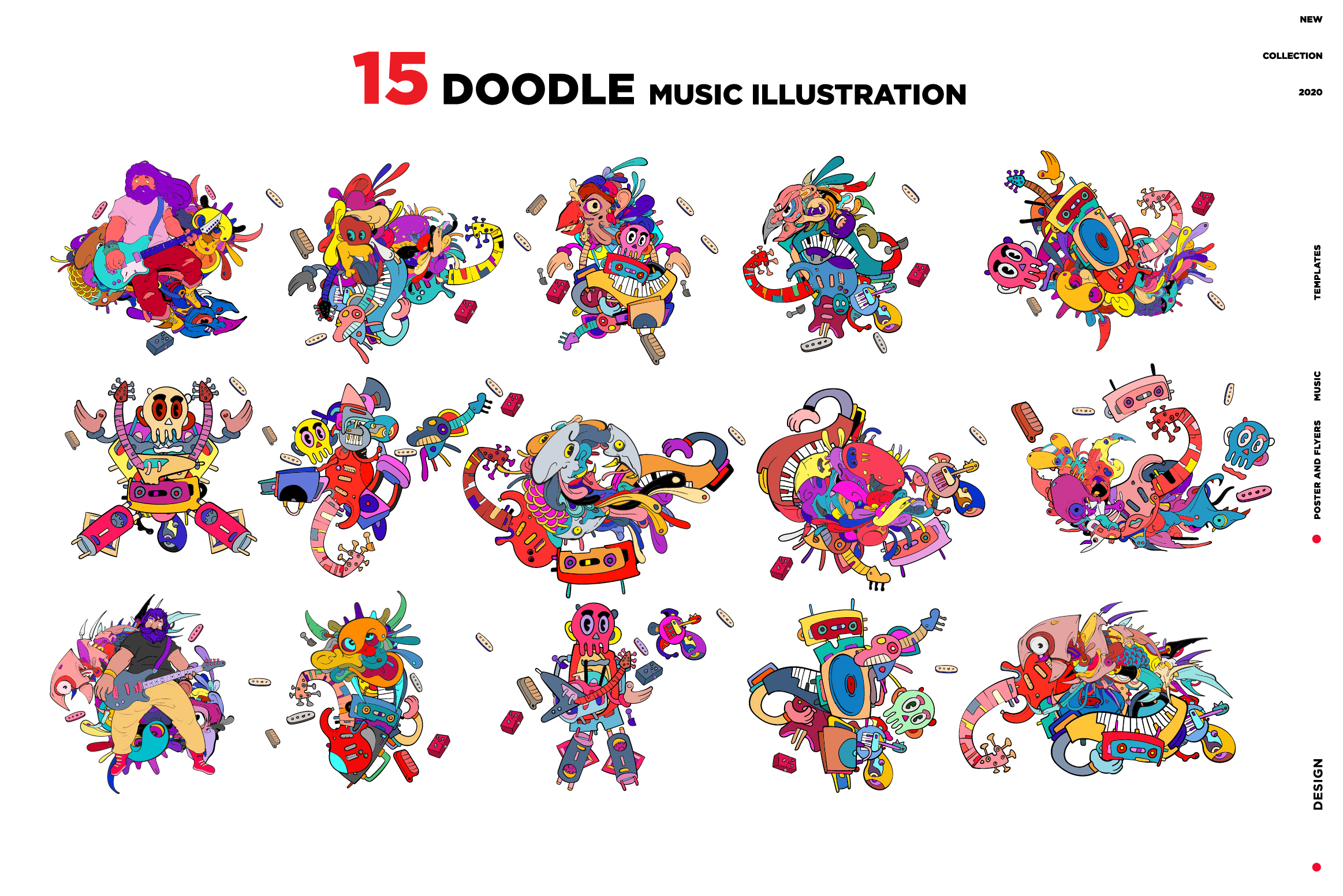15 Doodle Music Illustration for World Music Day example image 3