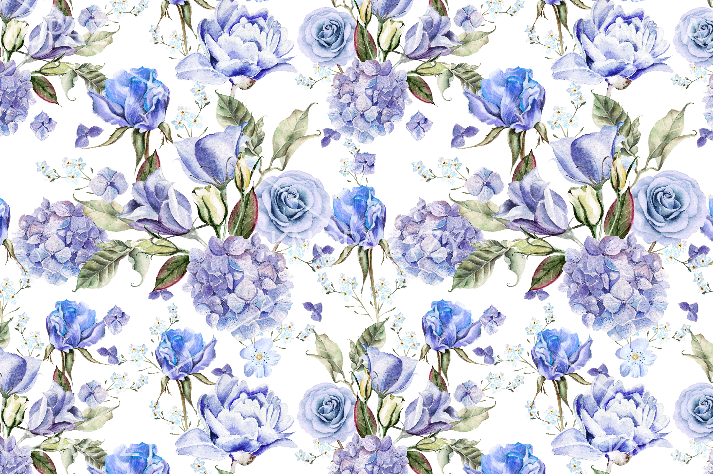 9 Hand Drawn Watercolor PATTERNS example image 7