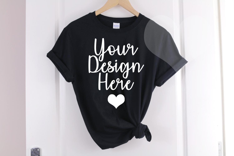 Gildan Mockup 64000 Black T shirt - Gildan Tshirt Mockup example image 1