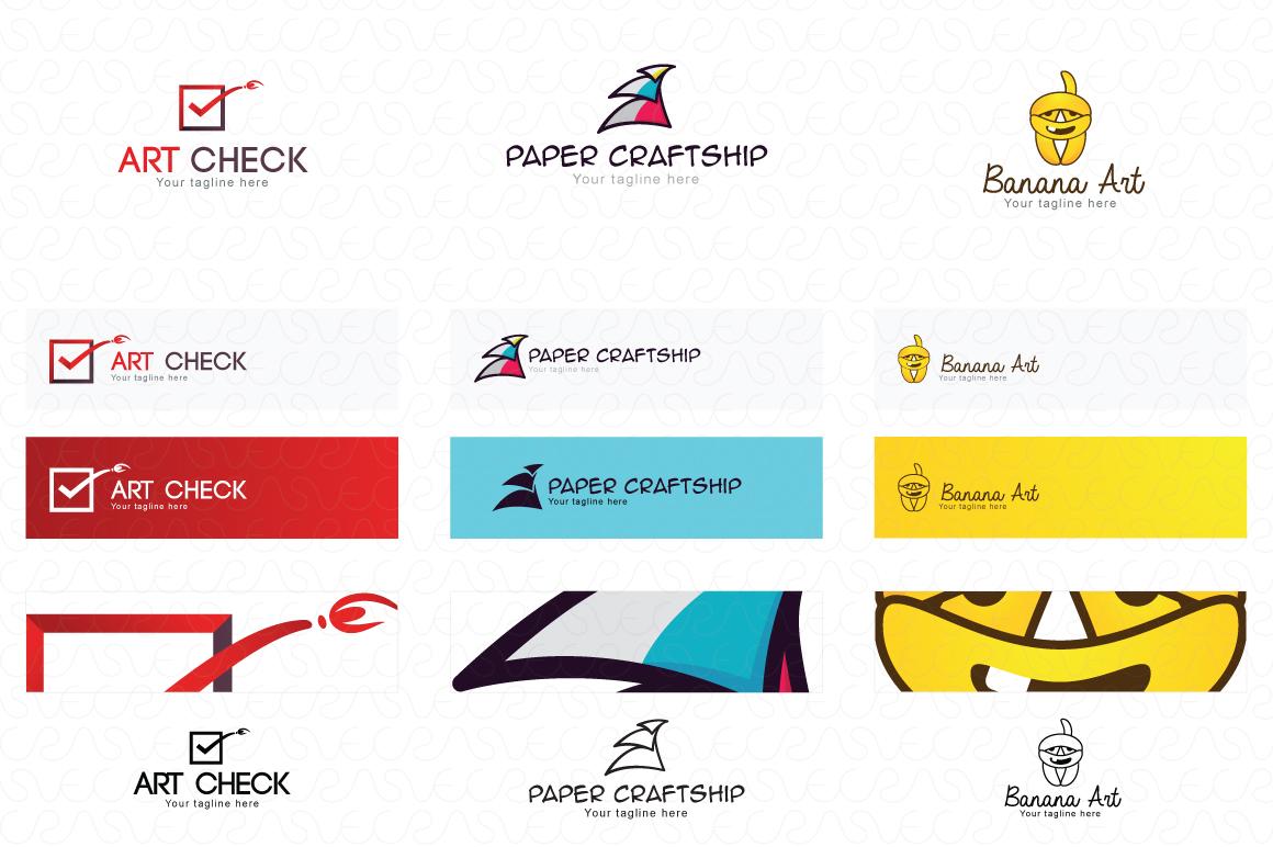 Art Craft Handicrafts Logo Templates Pack of 12 example image 5