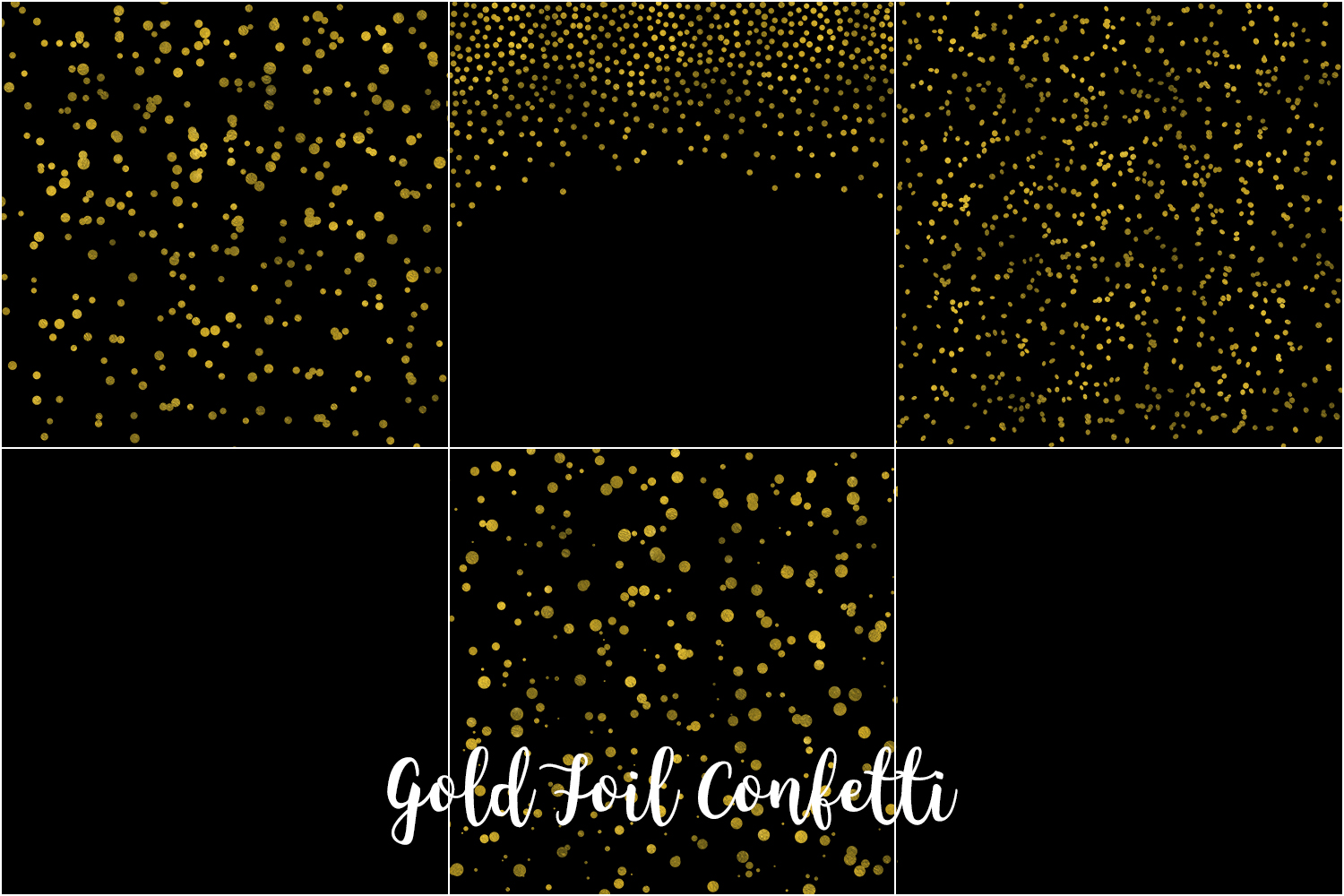 Gold Foil Confetti, Transparent PNG example image 3