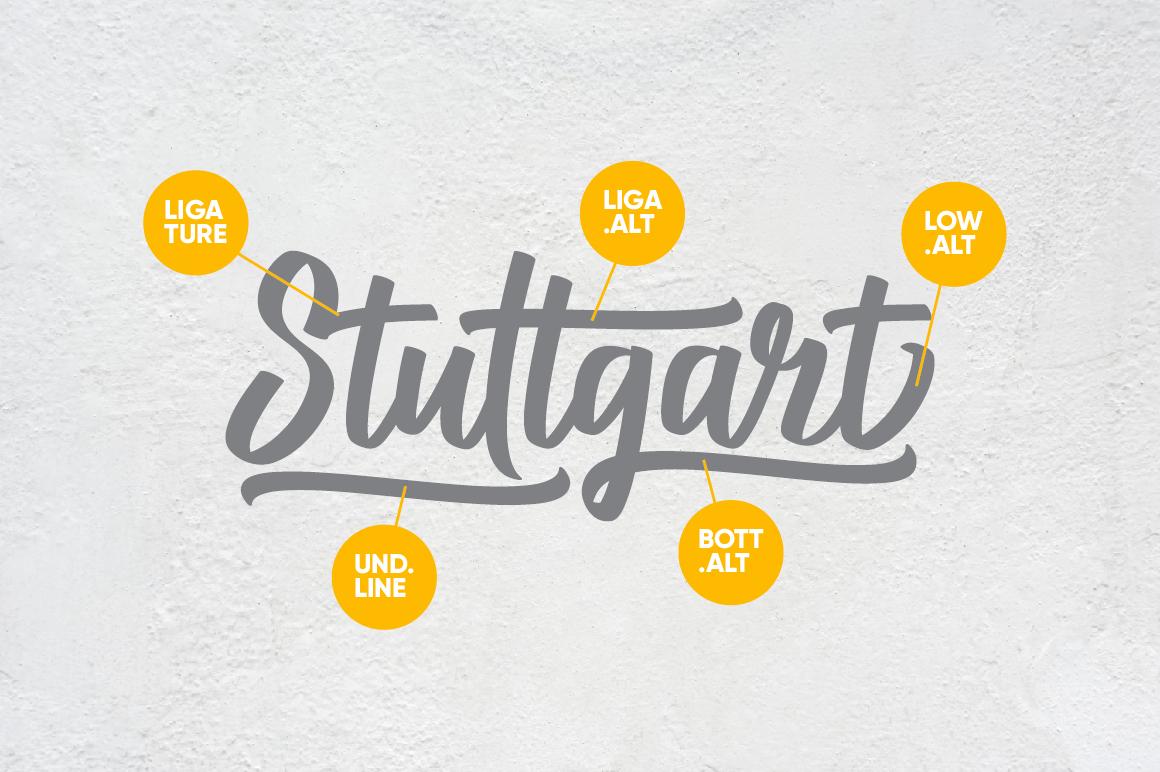 Stuttgart Script example image 2