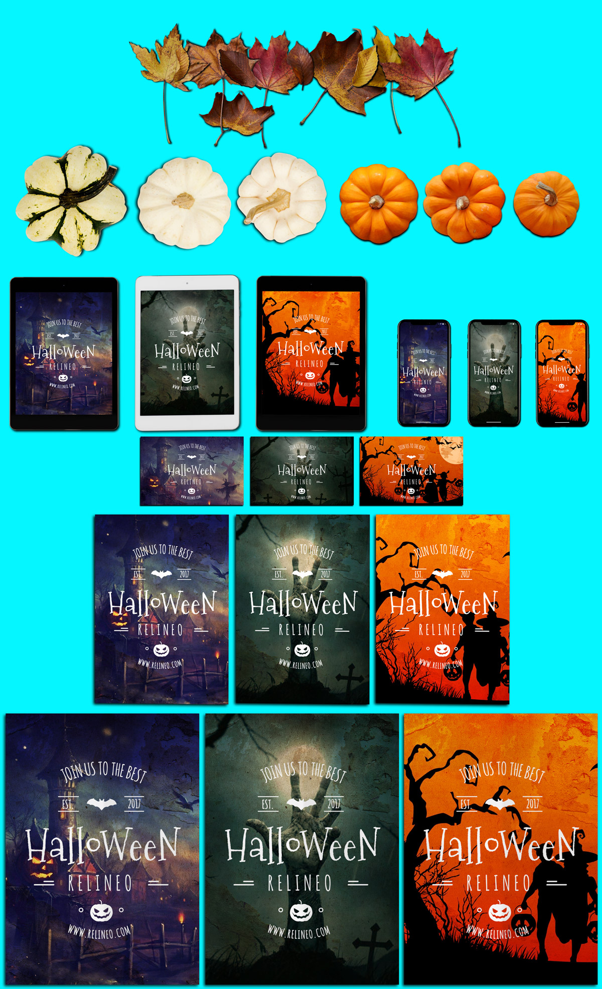 Halloween Scene and Mock-up Creator #1 example image 3
