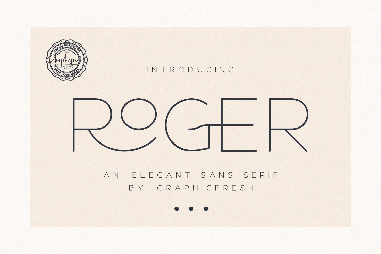 Roger - An Elegant Sans Serif example image 9