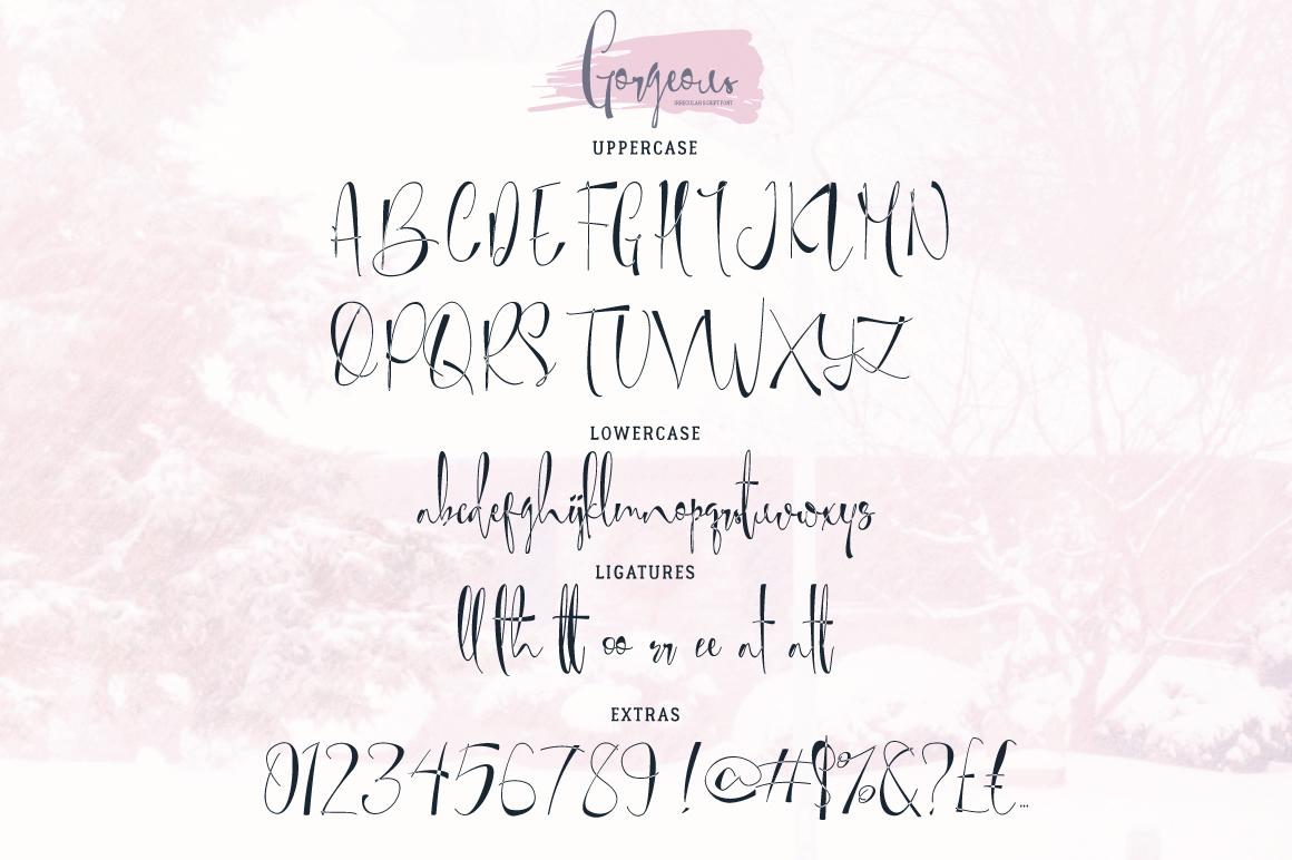 Gorgeous Typeface example image 4