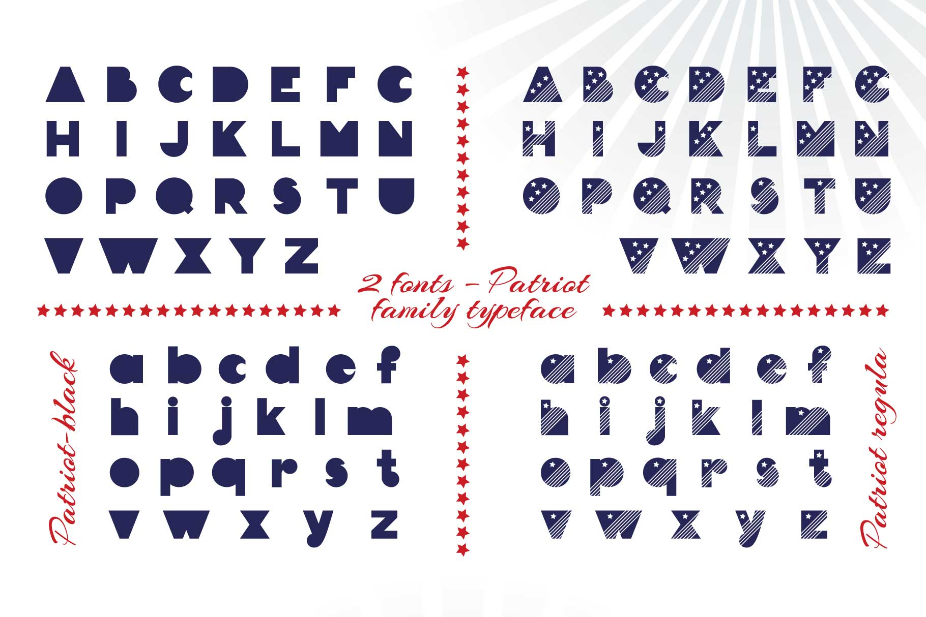 Patriot font family example image 6
