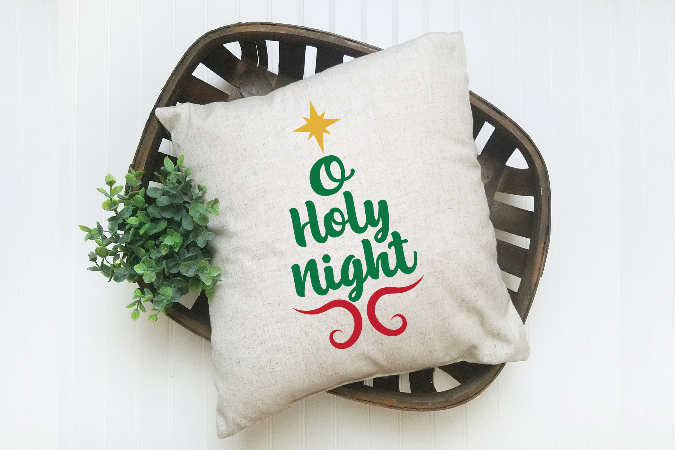 O Holy Night SVG Cut File - Christmas SVG - DXF - PNG - EPS example image 5