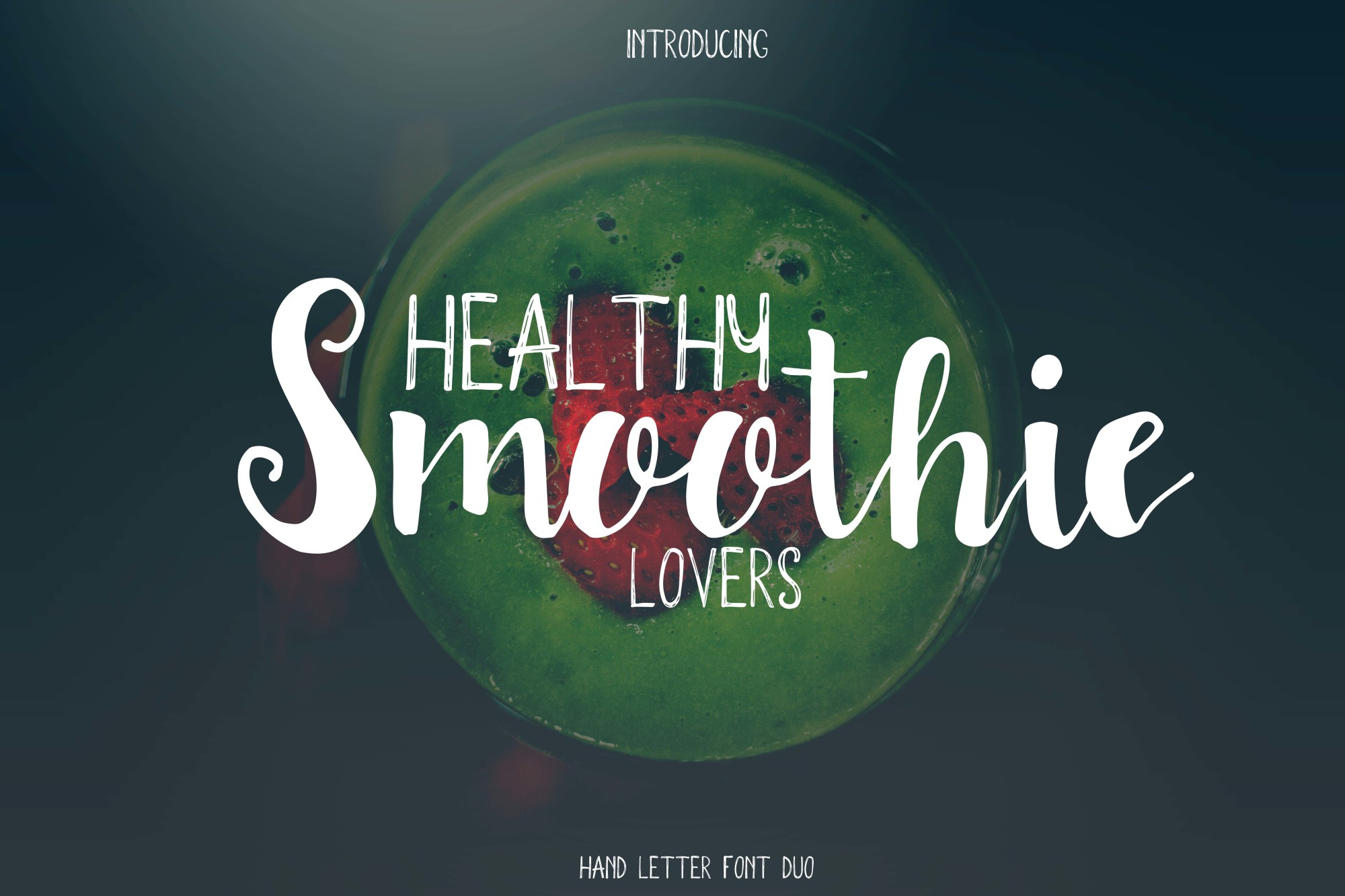 Smoothie font duo example image 1