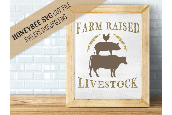 Farm Raised Livestock svg example image 1
