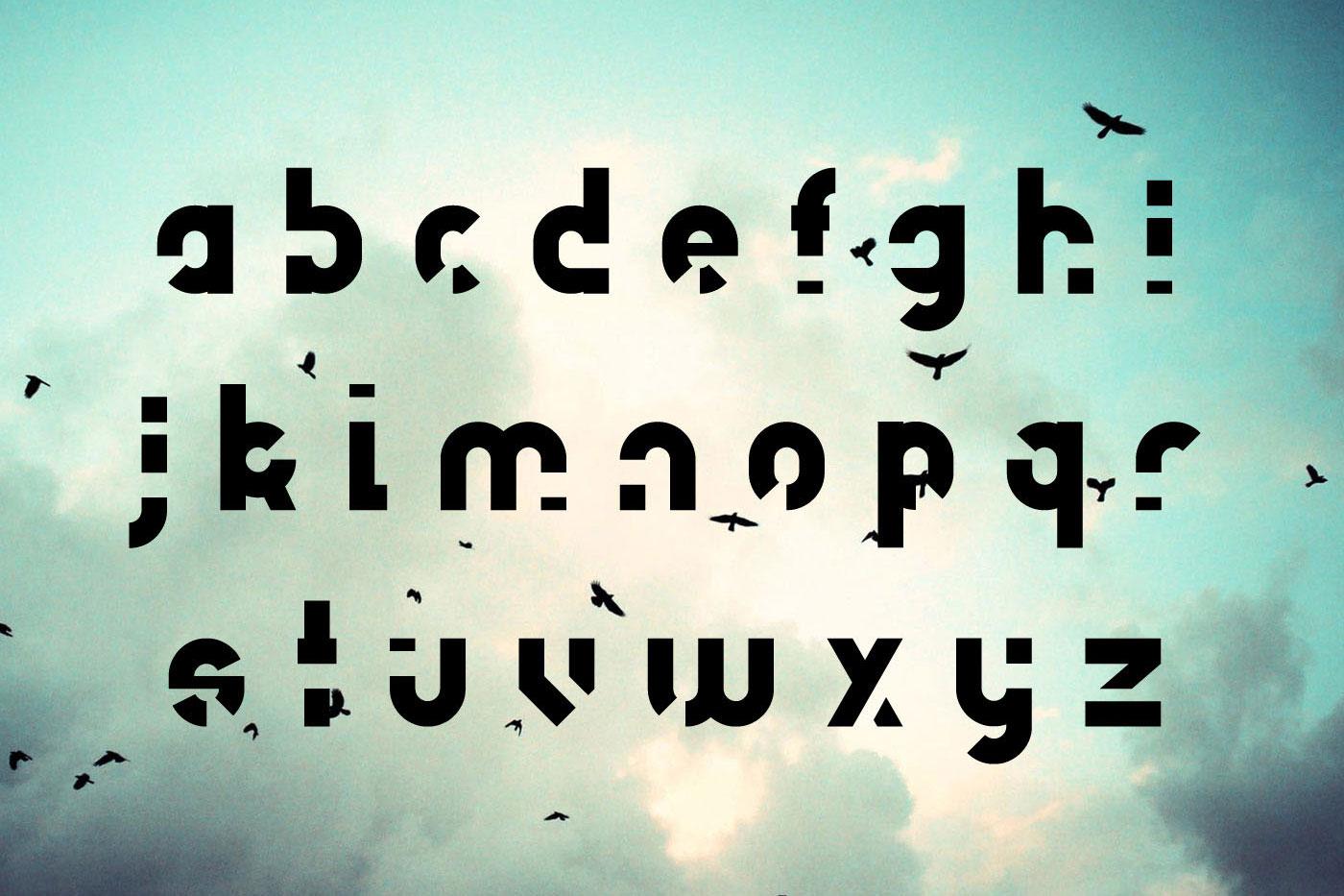 Unfinished typeface example image 4