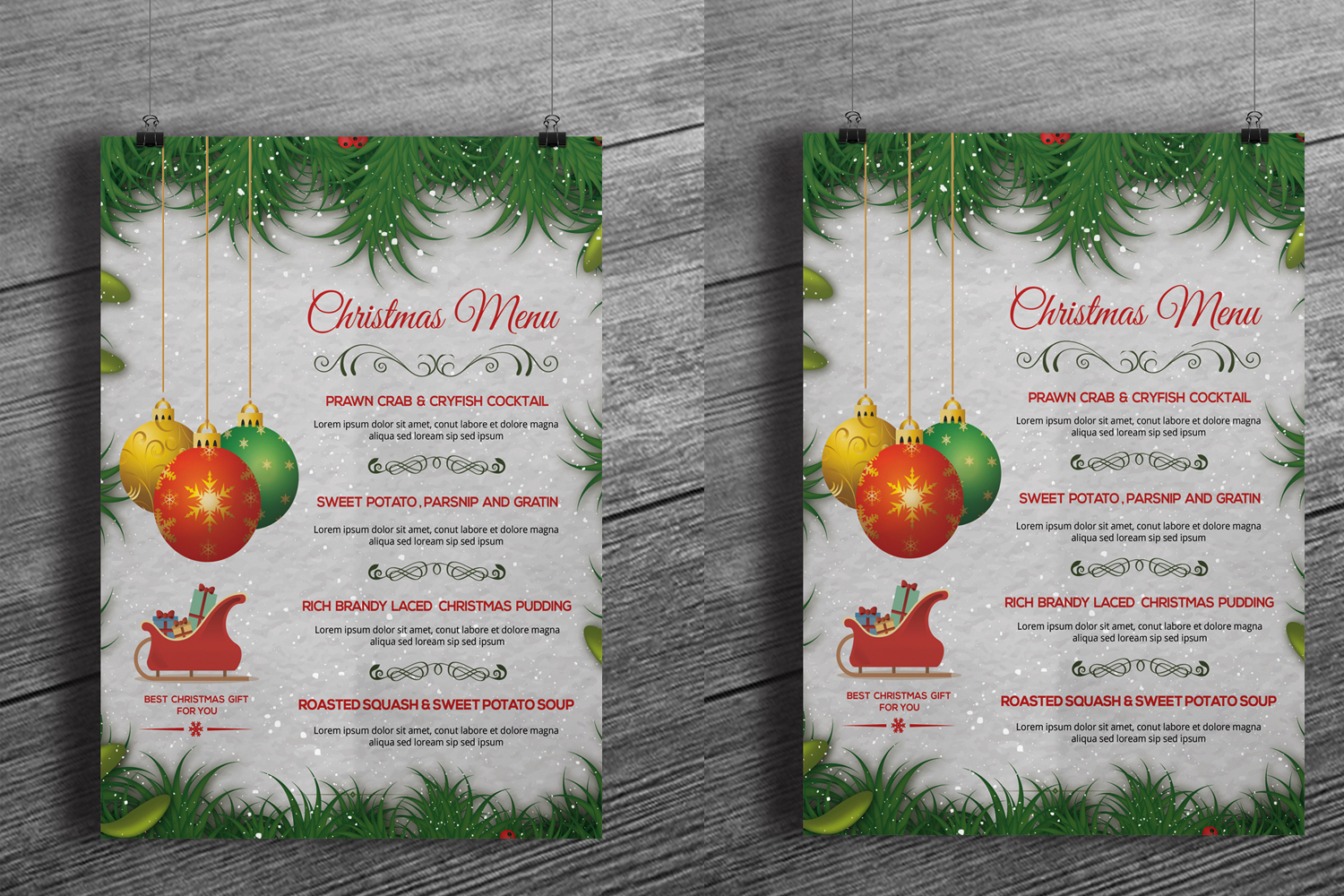 Christmas Party Menu example image 3