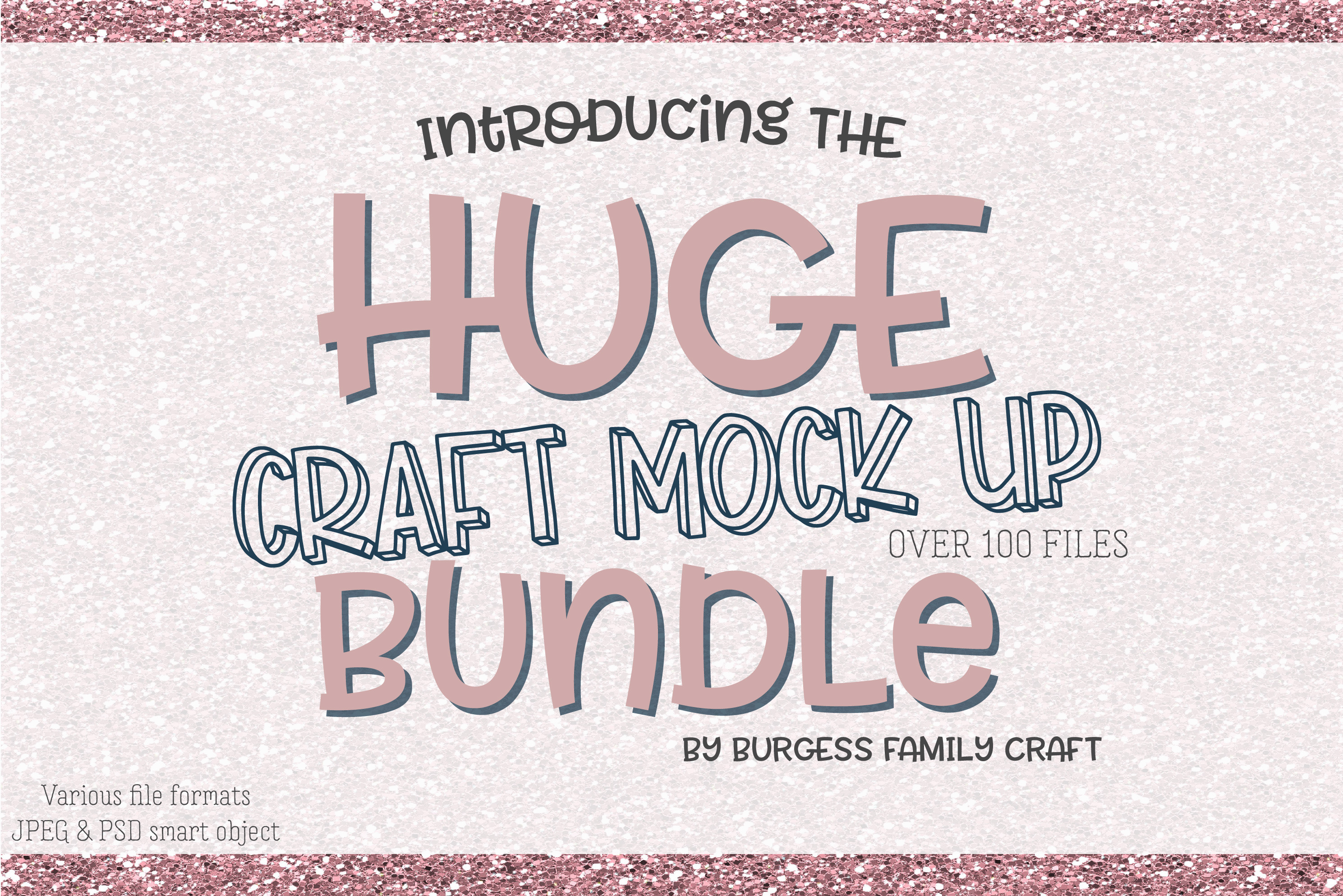 HUGE Craft mock up Bundle | Exclusive to Design Bundles example image 1