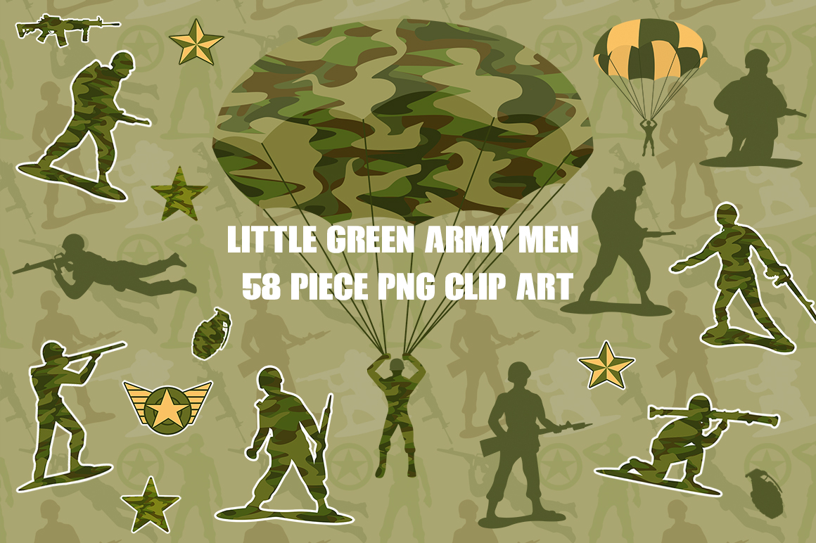 Little Green Army Men Clip Art example image 1