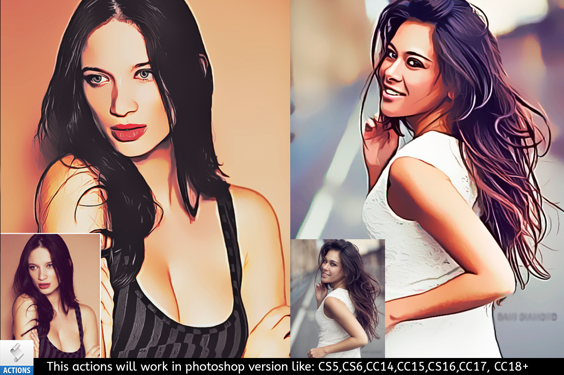 Vector Painting Photoshop Action example image 1