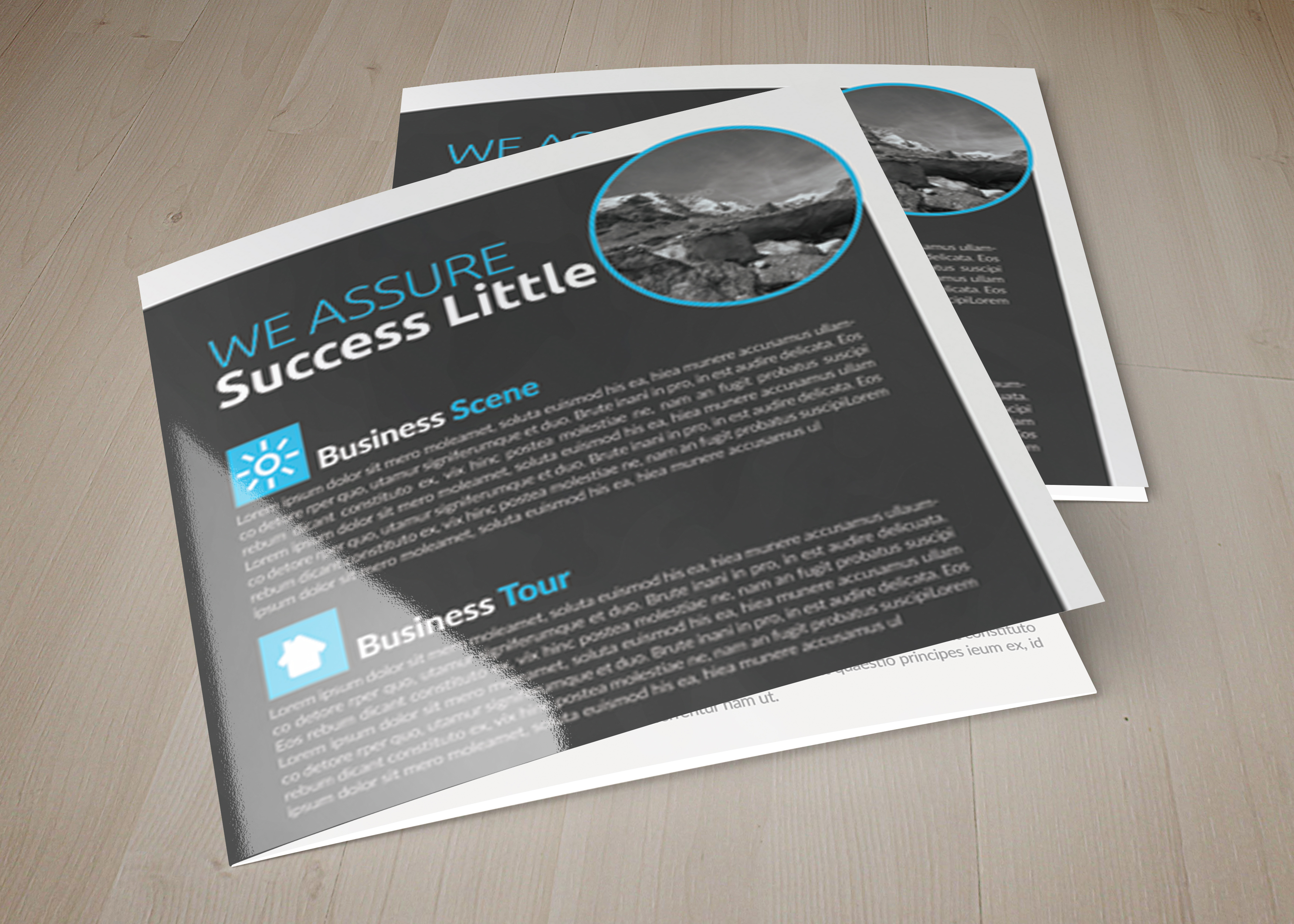 Multi Use Business Squre Trifold Brochure example image 1