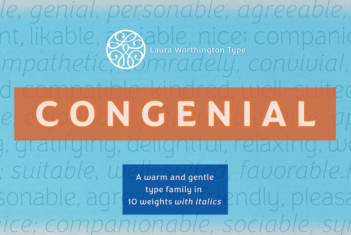 Congenial Italic Regular example image 6