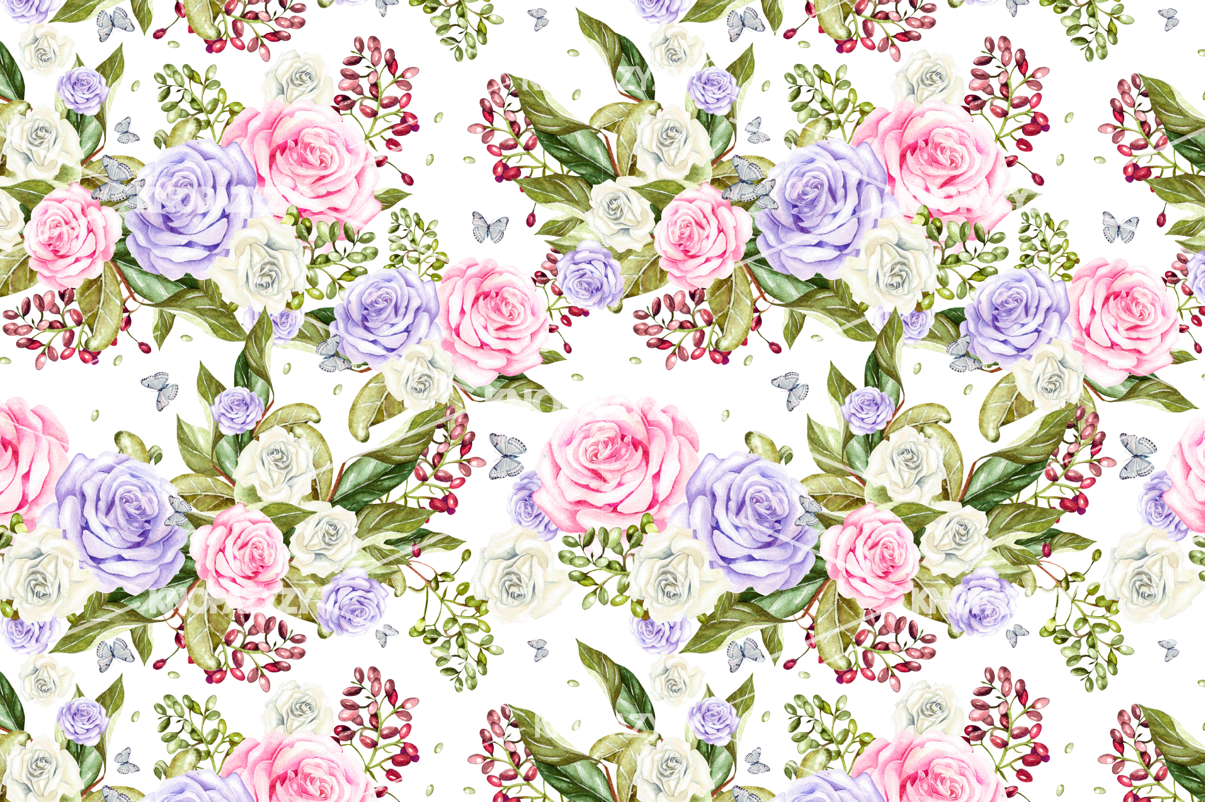 14 Hand drawn watercolor patterns example image 2