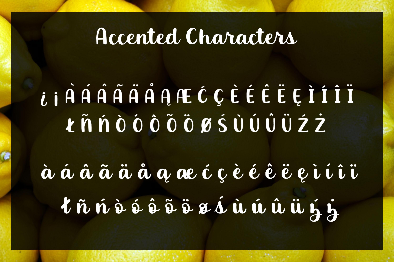 Luscious Lemon - A thick script font example image 4