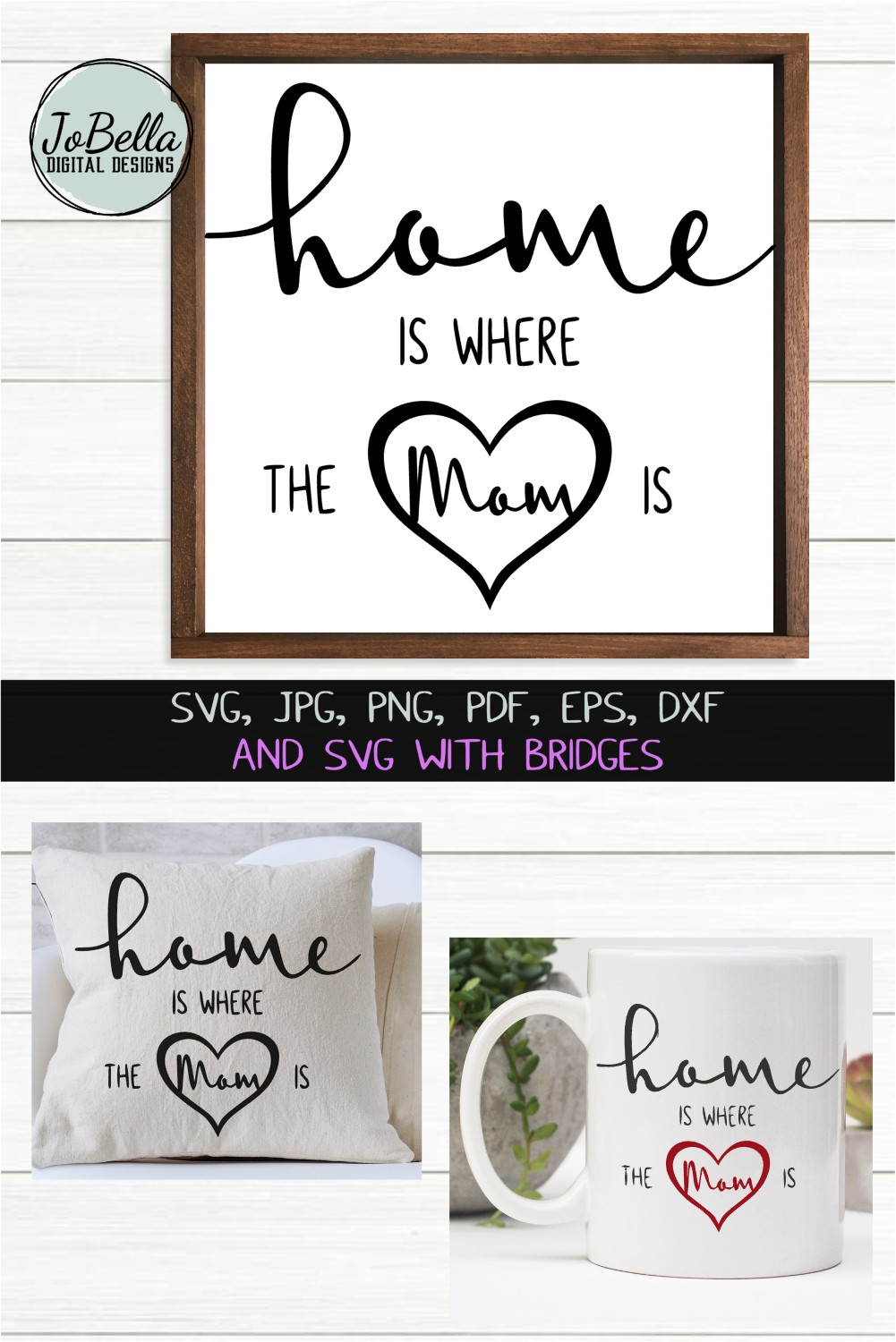 Mom SVG, Sublimation Design and Mother's Day Printable example image 4