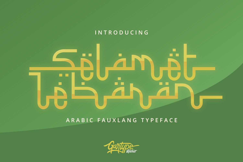 Selamet Lebaran // Arabic Fauxlang Font example image 1