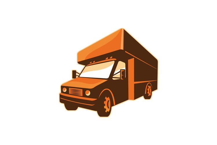 moving truck delivery van retro example image 1
