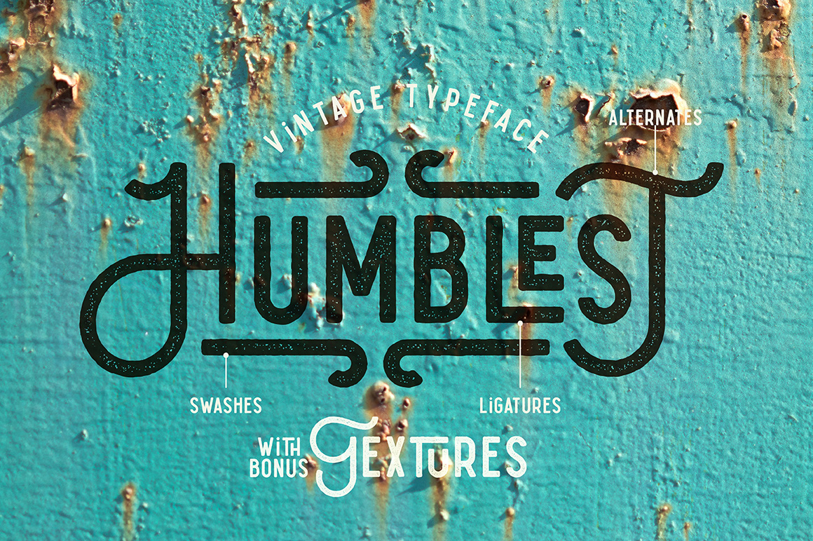 Humblest Font + Textures example image 1