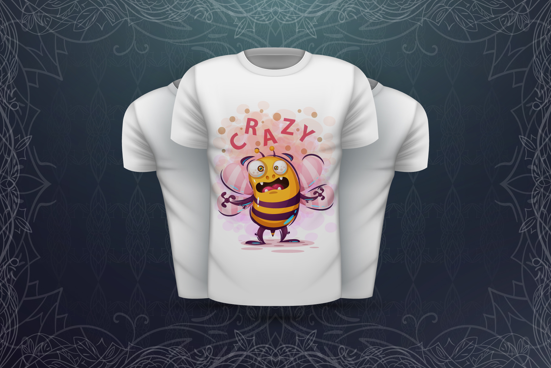 Set crazy bee and monsters example image 6