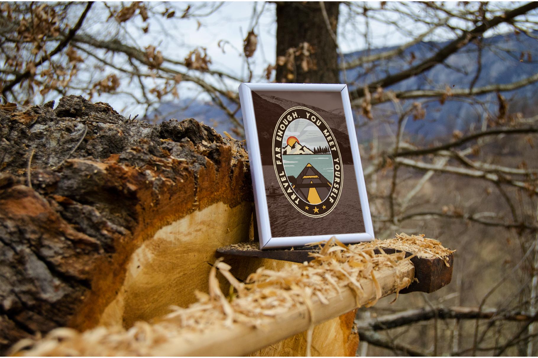 Vintage Travel Logo / Retro Mountain Badge example image 4