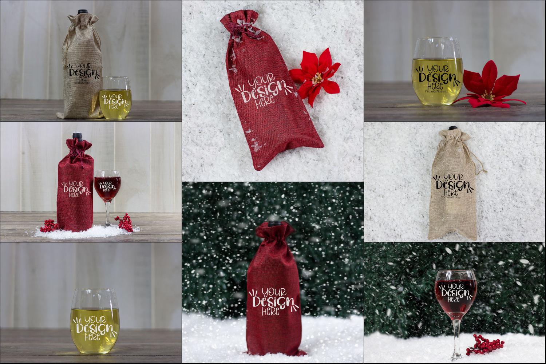 Winter Wine Mock Up Bundle example image 2