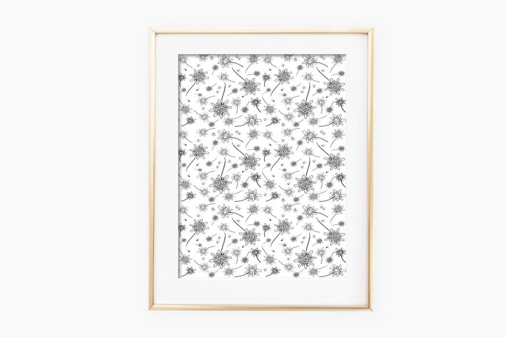 Flowers Hand drawn illustration Art, A1, SVG example image 2