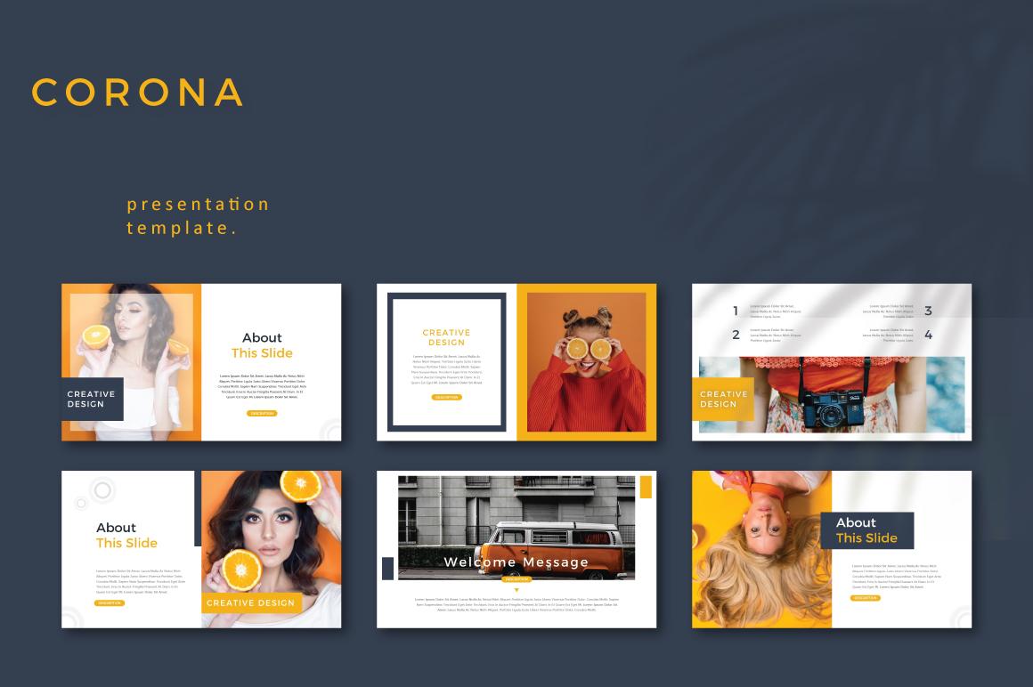 CORONA - Google Slides example image 2