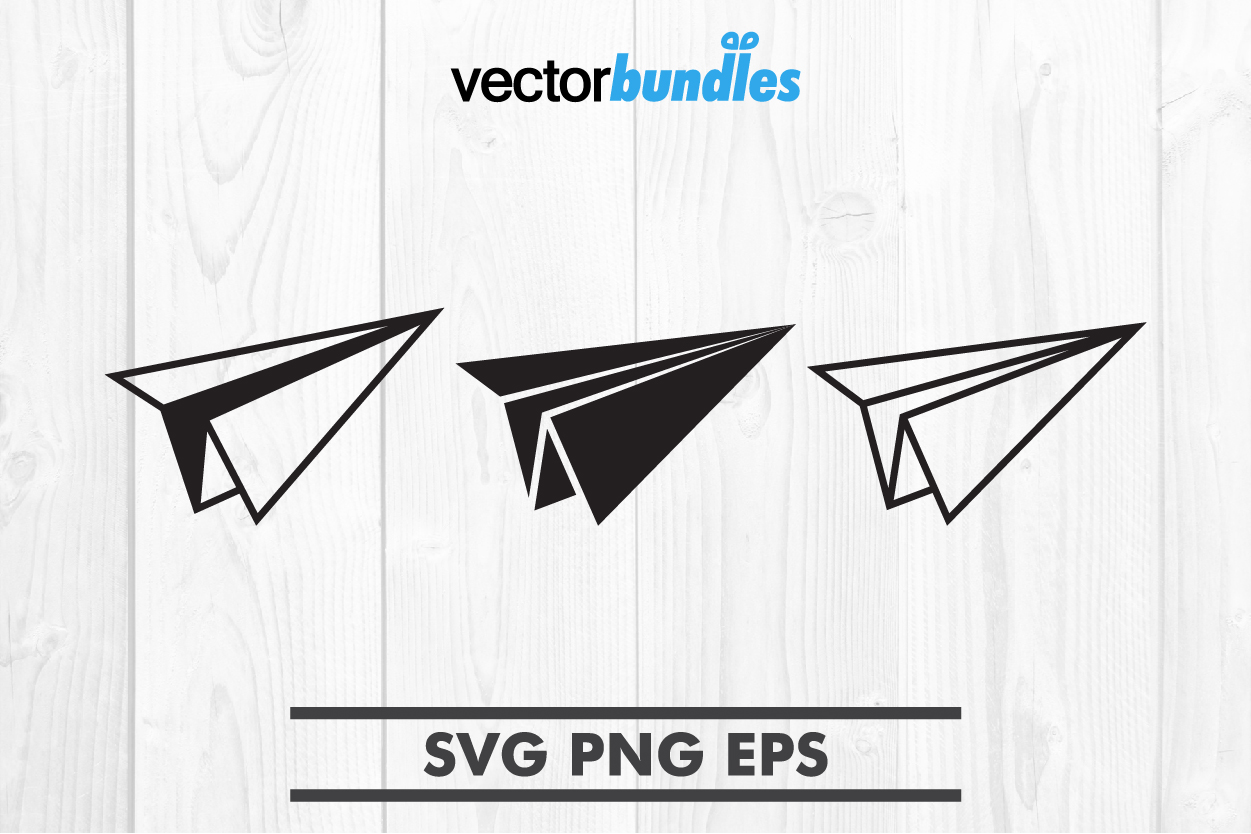 Paper plane clip art svg example image 1