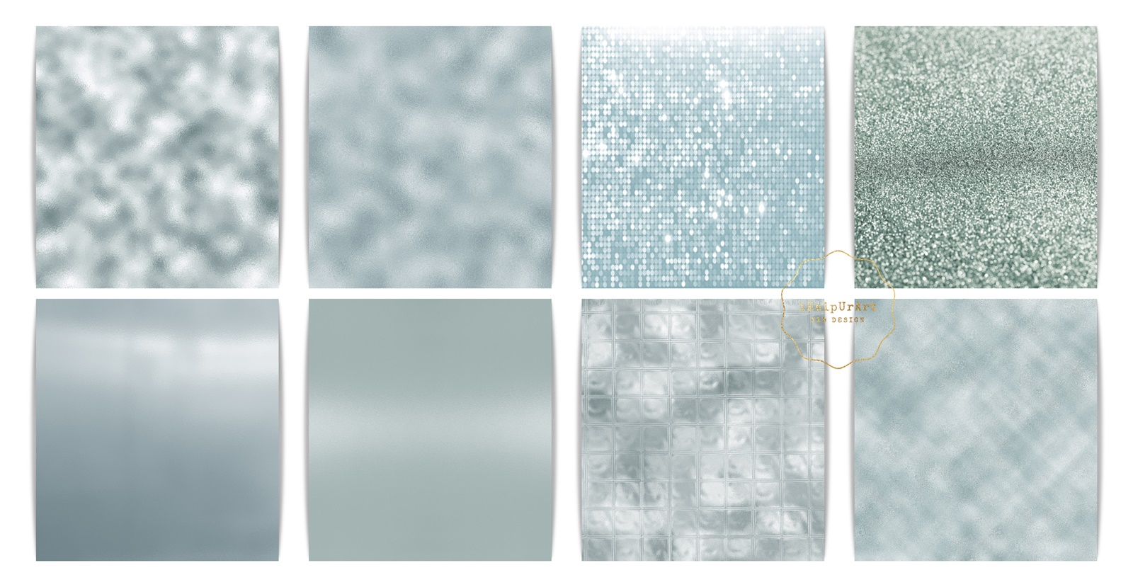 Minty Metallic Texture Papers example image 4