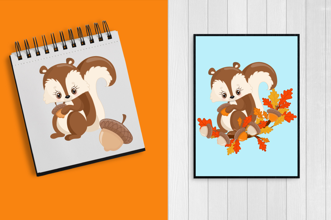 Woodland Critters clipart, graphics and illustrations AMB-1178 example image 4