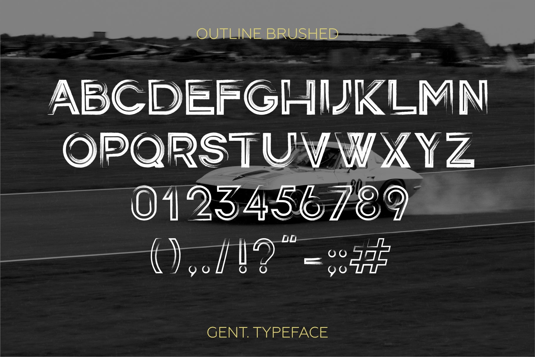 Gent. Display brushed typeface. Striking and modern. example image 7
