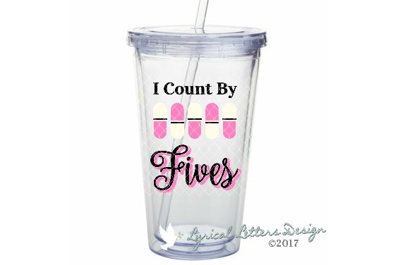 I Count by Fives Pharmacy SVG DXF Cut File LL182D example image 2