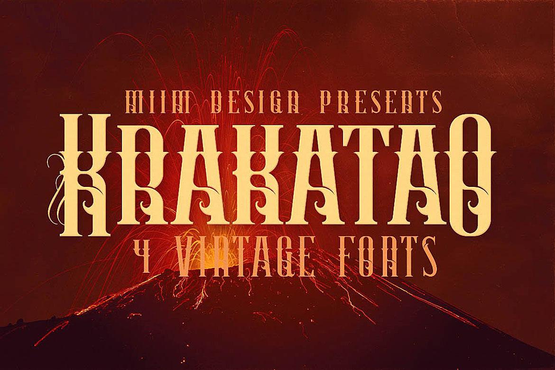 Krakatao - Vintage Font example image 3