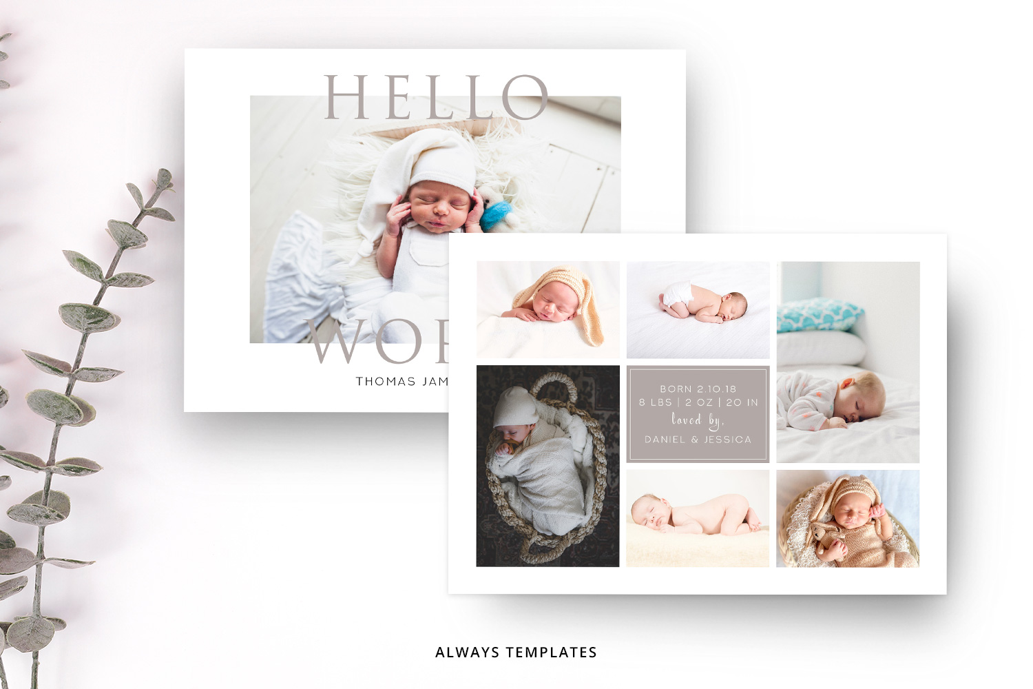 Birth Announcement Template BA001 example image 2