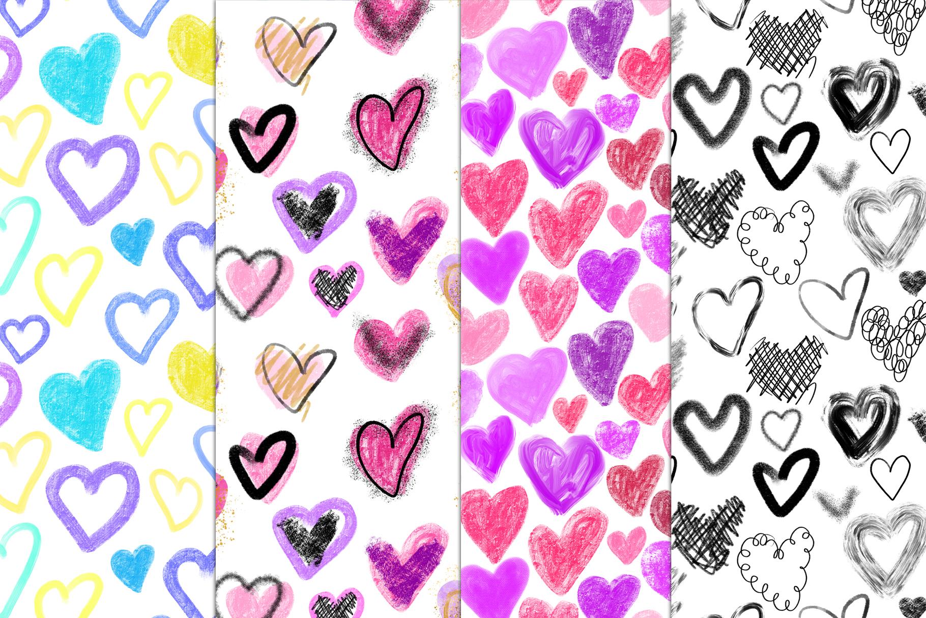 Stylish Hearts. 12 patterns example image 4