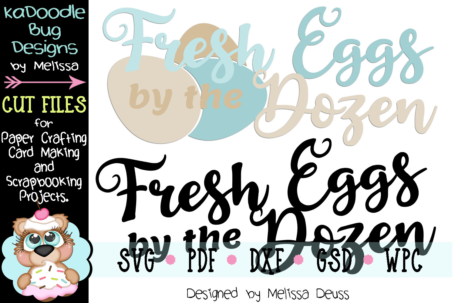 Fresh Eggs by the Dozen Cut File - SVG PDF DXF GSD WPC example image 2