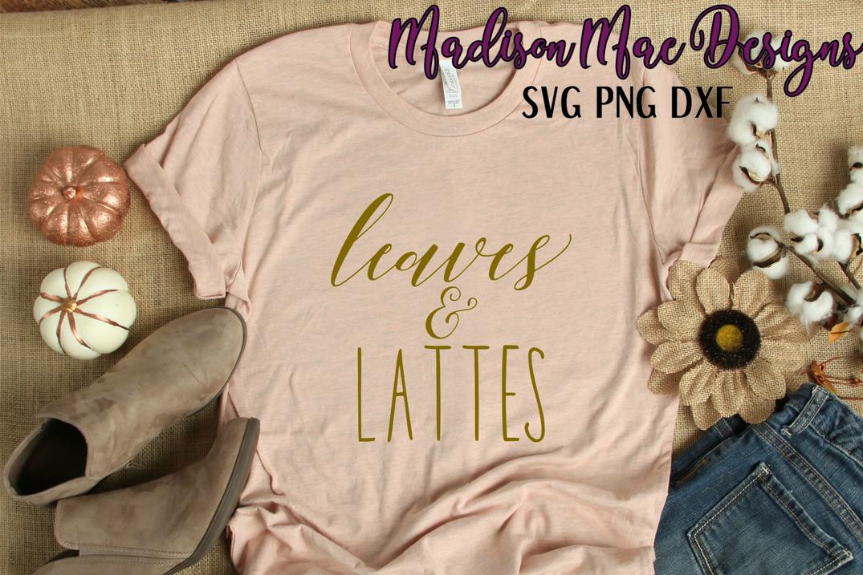 Leaves & Lattes Fall SVG Digital Cut File example image 2