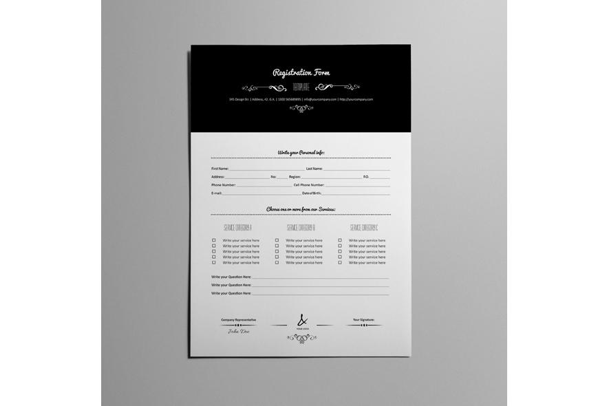 Registration Form Template v9 example image 5