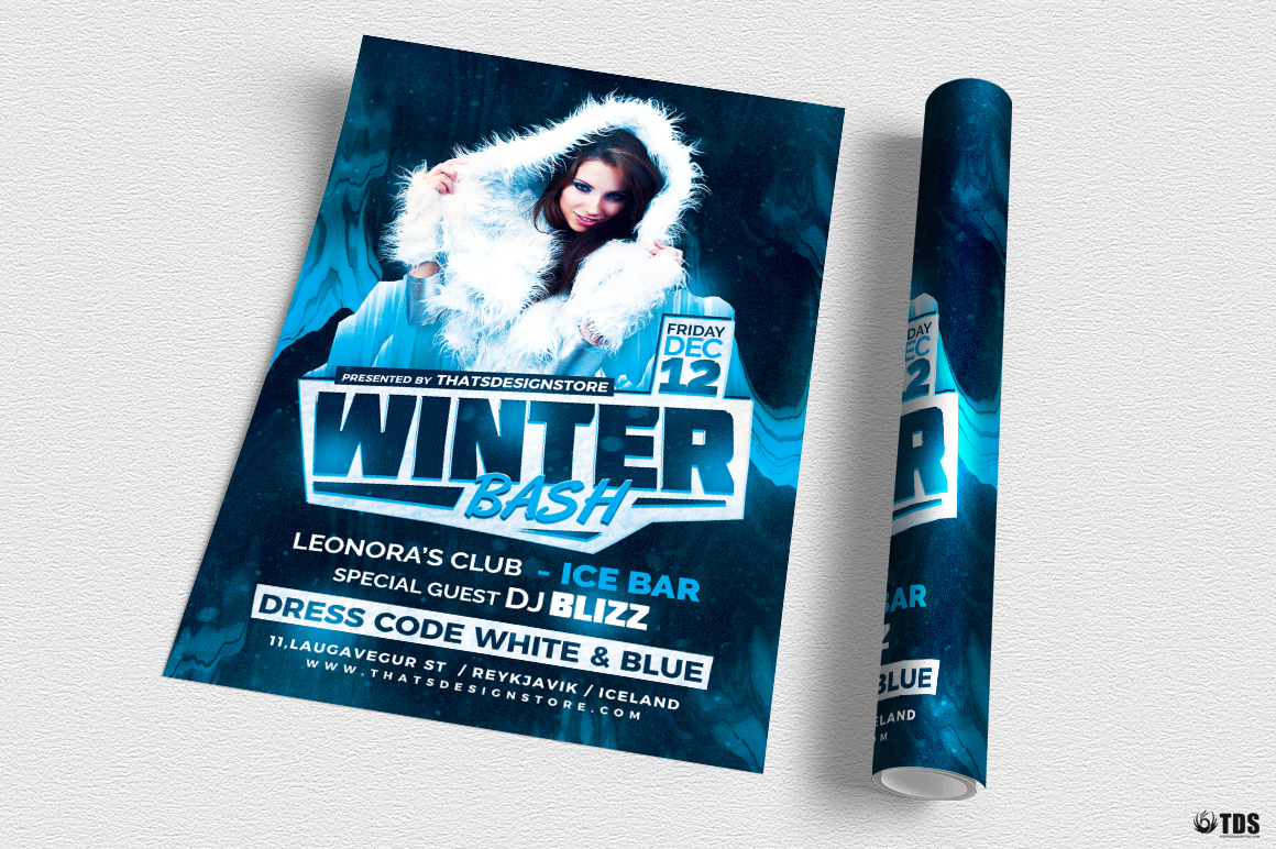 Winter Bash Flyer Template V3 example image 3