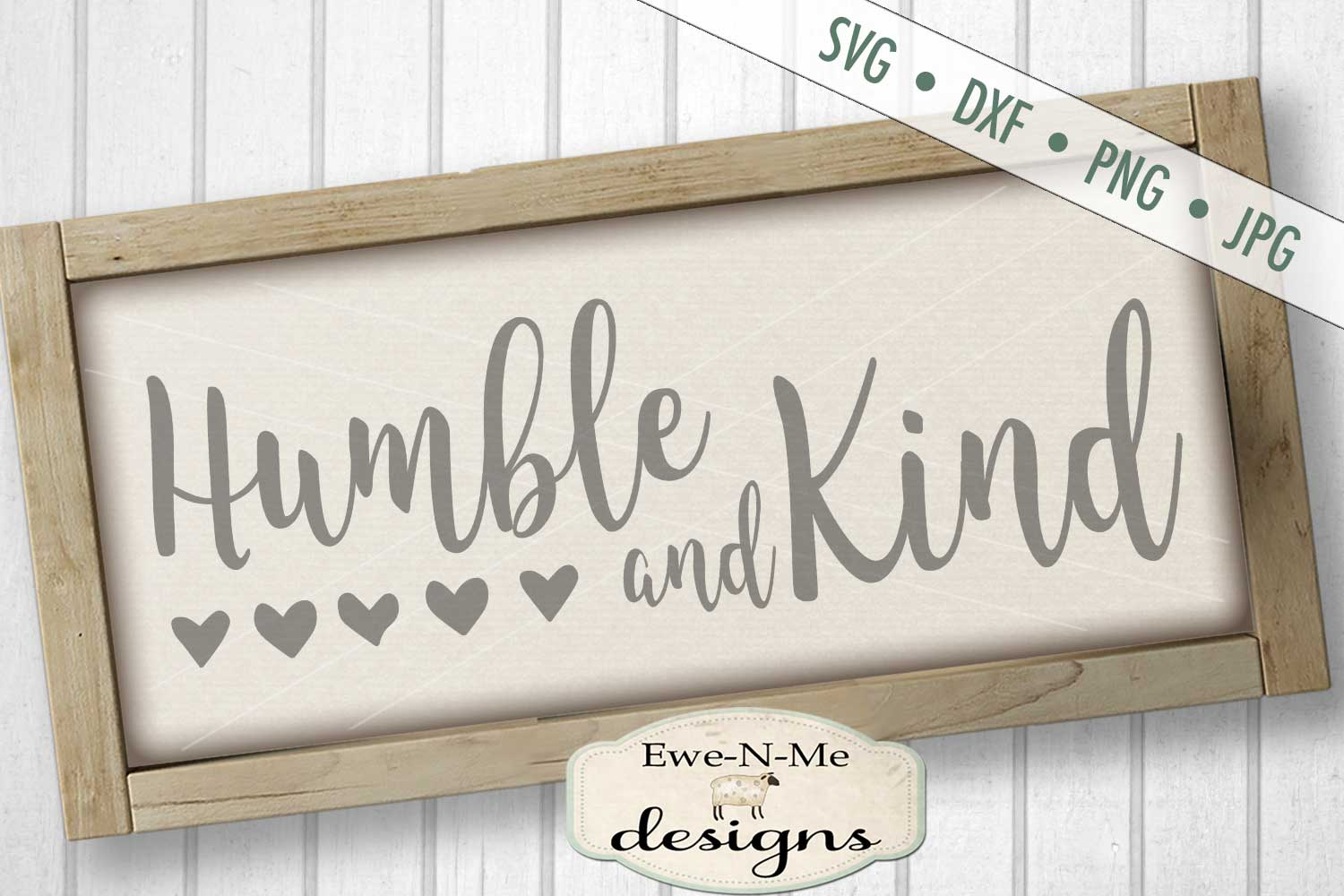 Humble and Kind - Hearts - SVG DXF Files example image 1
