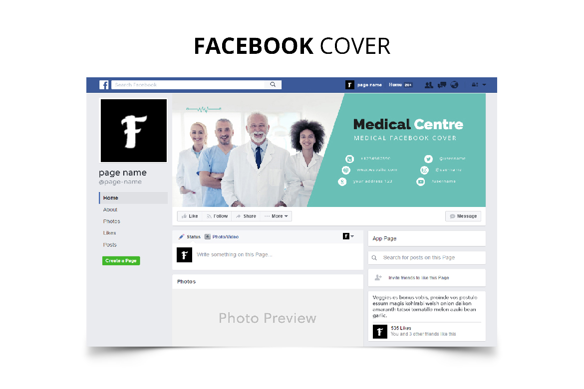 Medical Centre Social Media Kit example image 4