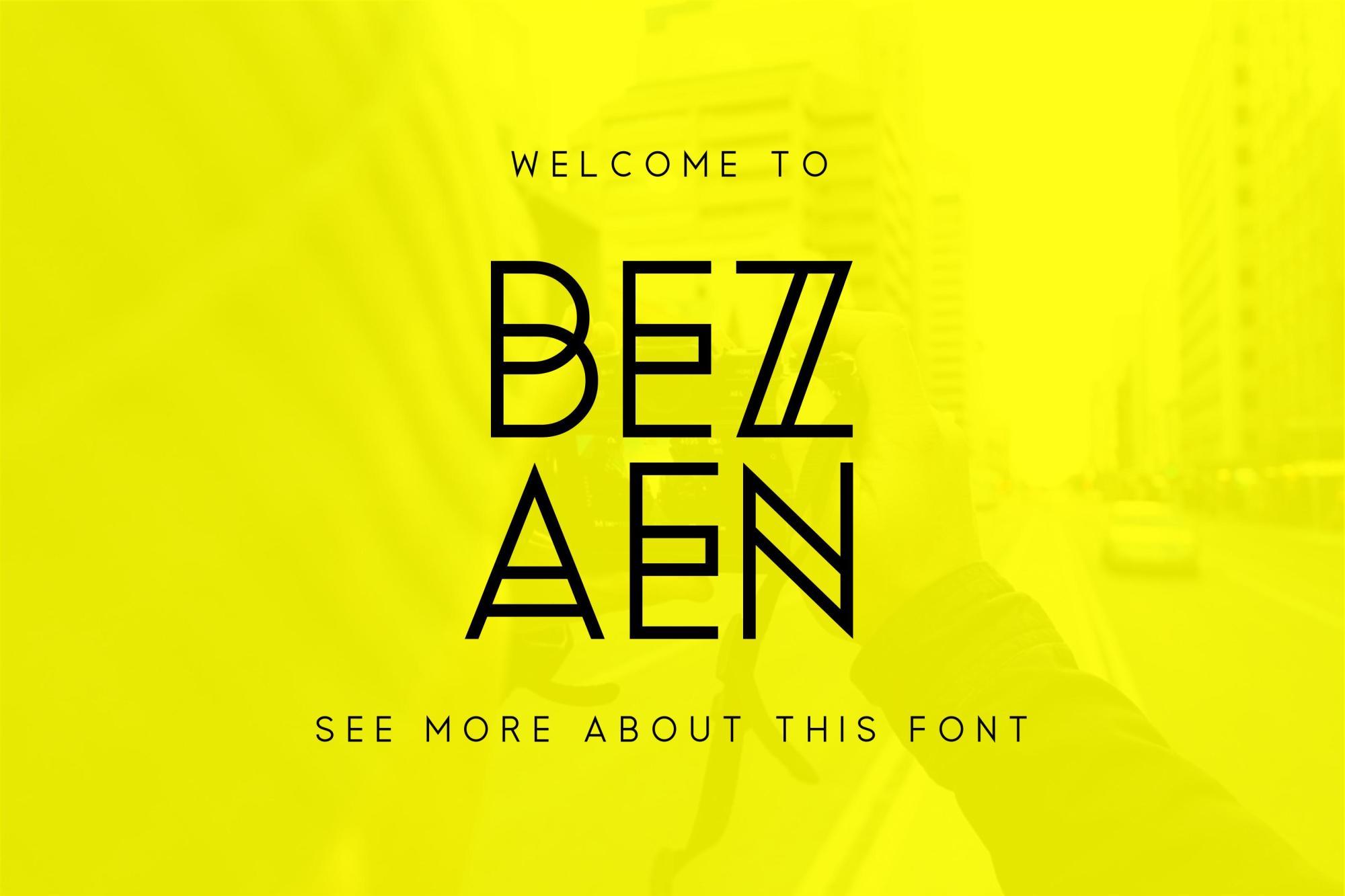 Bezaen Typeface example image 2