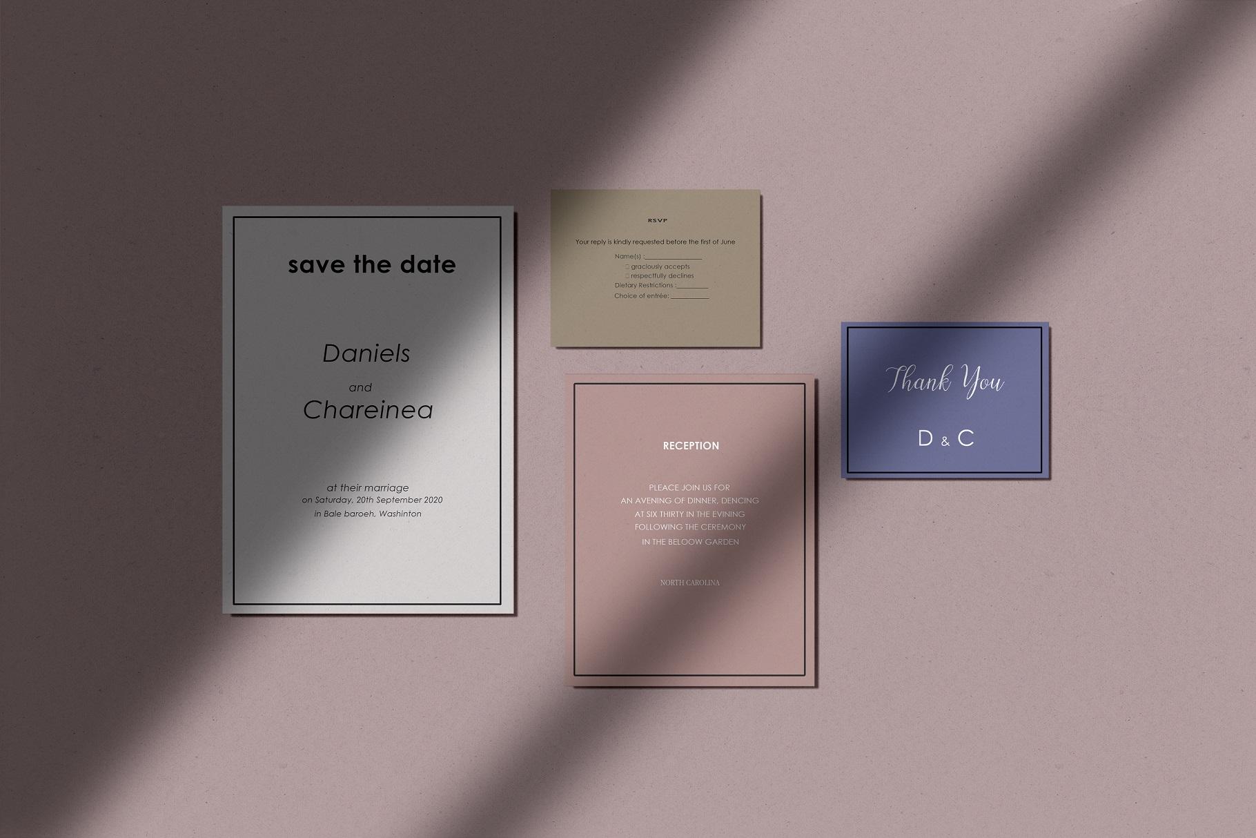 Wedding Invitation Suite Mockup example image 5